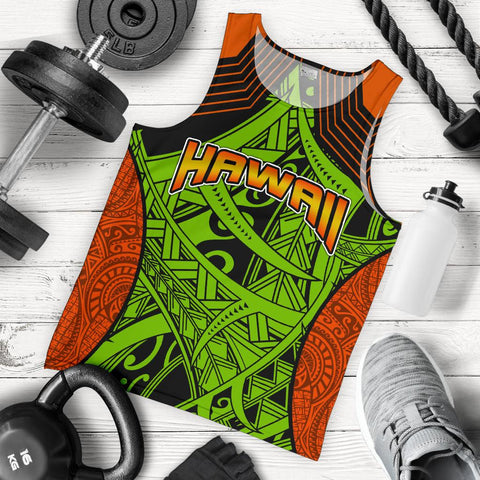 Polynesian Hawaii Men's Tank Top - Tribal Wave