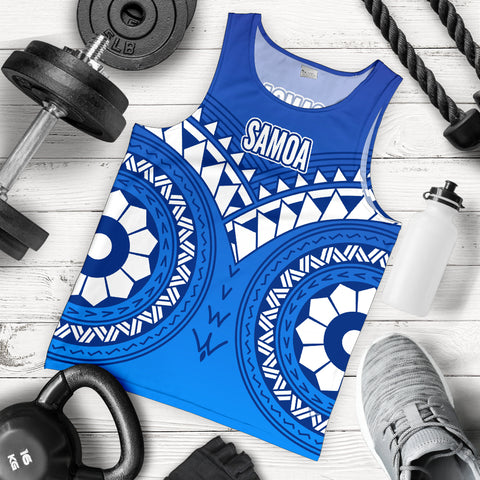 Image of Samoa Polynesian Tribal Pattern Men's Tank Top - BN12