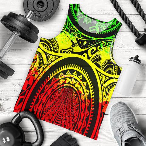 Image of Polynesian Men's Tank Top, Maui Tattoo Polynesian Patterns (Reggae) - BN17