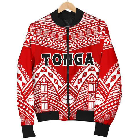 Image of Tonga Polynesian Tribal Pattern Women's Bomber Jacket