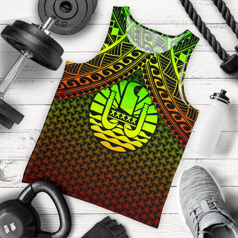Image of Polynesian Tahiti Personalised Men's Tank  Top - Reggae Vintage Polynesian Patterns