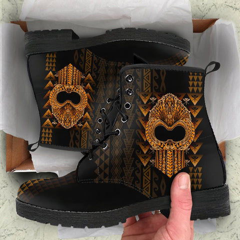 Hawaii Polynesian Leather Boots - Ikaika Hawaiian