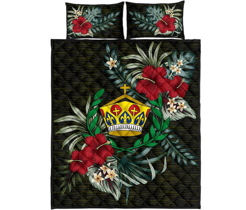 Tonga Polynesian Quilt Bed Set - Special Hibiscus A7