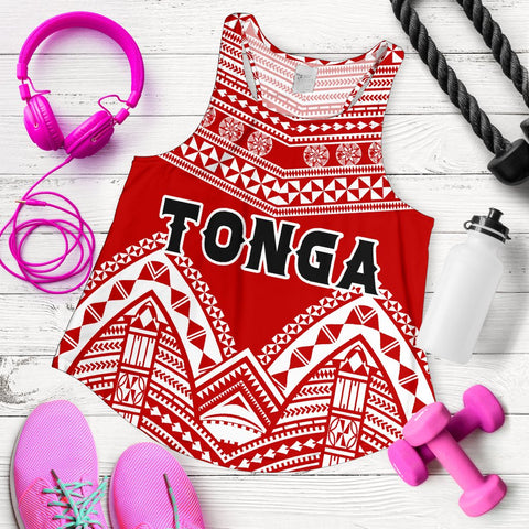 Image of Tonga Polynesian Tribal Pattern Women's Racerback Tank