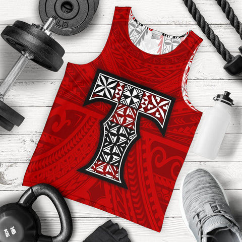 Image of Tonga Men's Tank Top, Polynesian Peak, Polynesian, Tonga, Tank Top