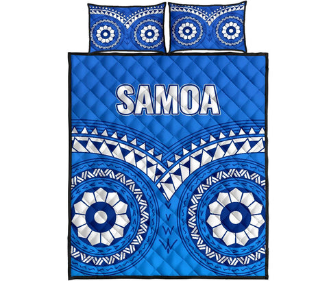 Image of Samoa Tribal Pattern Quilt Bed Set