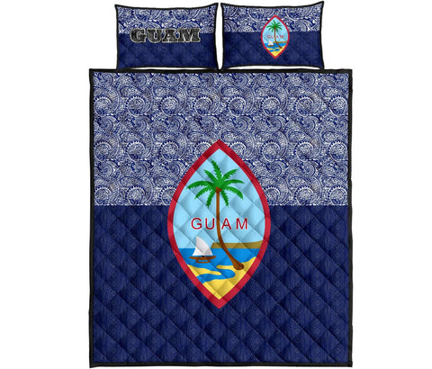 Image of Guam Quilt Bed Set - Polynesian Design