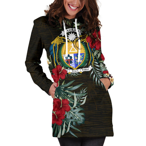 Image of Nauru Hibiscus Hoodie Dress A7