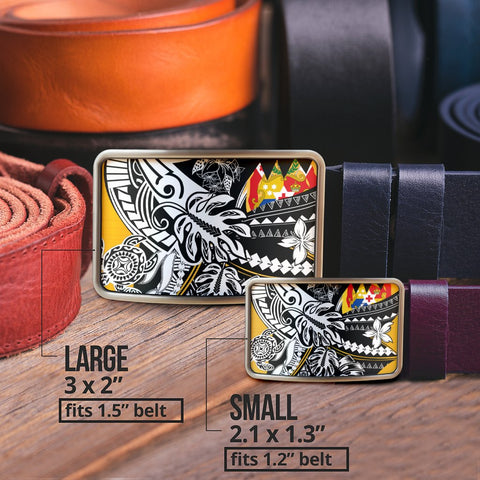 Tonga Belt Buckle - Tribal Jungle Pattern - BN20