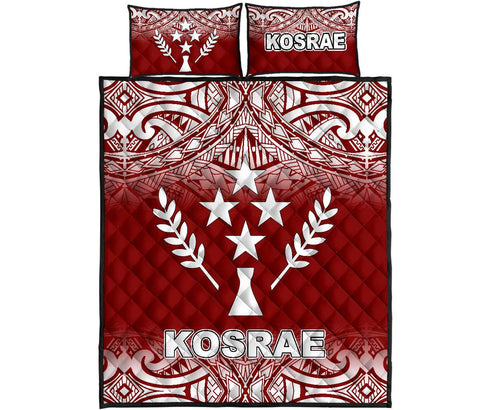 Image of Kosrae Quilt Bed Set - Red Fog Style