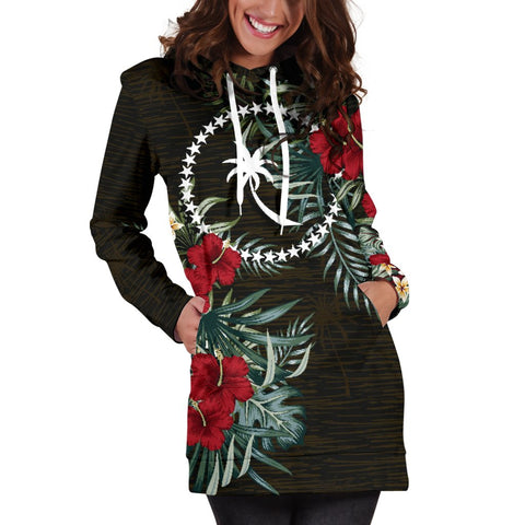 Image of Chuuk Hibiscus Hoodie Dress A7