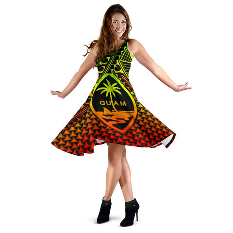 Image of Polynesian Guam Women's Dress - Reggae Vintage Polynesian Patterns