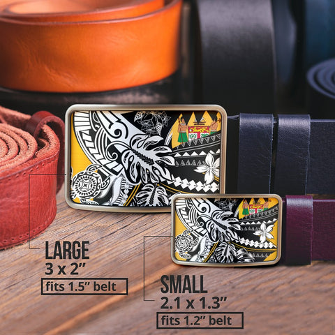 Fiji Belt Buckle - Tribal Jungle Pattern