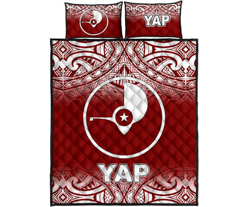 Yap Quilt Bed Set - Red Fog Style