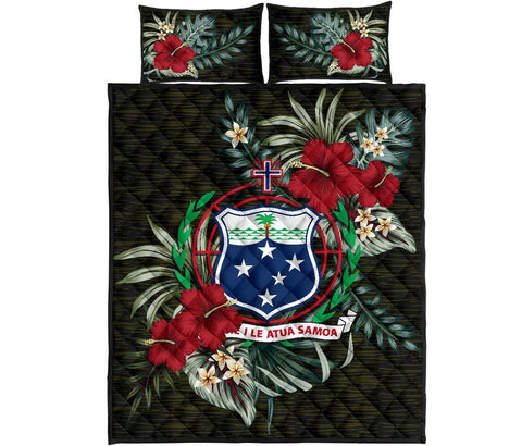 Samoa Polynesian Quilt Bed Set - Special Hibiscus A7
