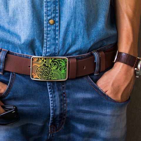 Polynesian Belt Buckle - Poly 52