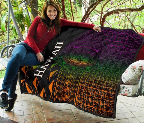 Image of Hawaii Premium Quilt - Hawaii Seal Rocket Style