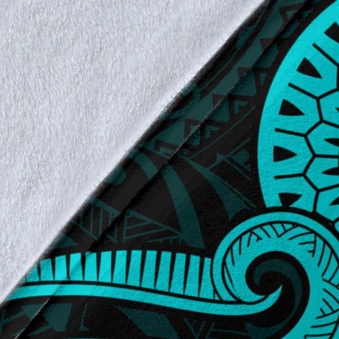 Image of Guam Polynesian Premium Blanket - Turquoise Tentacle Turtle - BN11