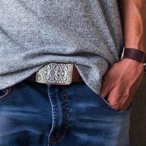 Image of Polynesian Belt Buckle - Poly 18