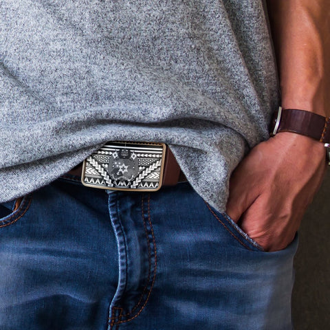 Image of Tonga Belt Buckle - Curve Style