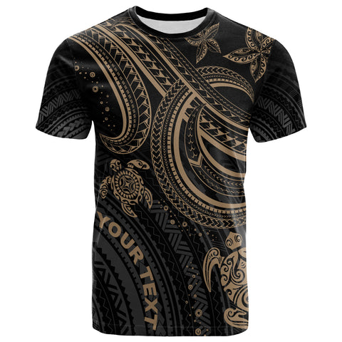 Image of Polynesian Custom Personalised T-shirt - Gold Turtle