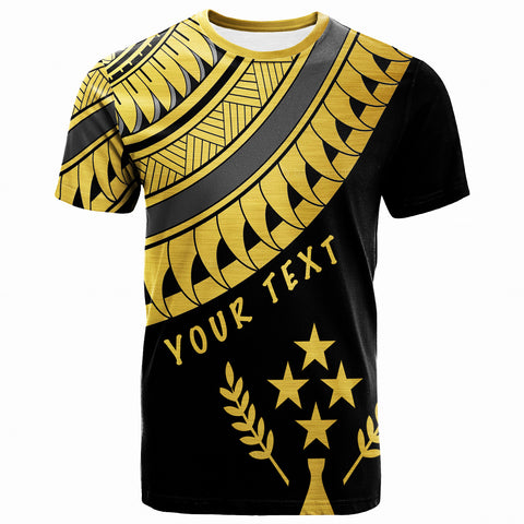Kosrae Custom Personalised T-Shirt -Ginger Lei Gold Pattern- BN20