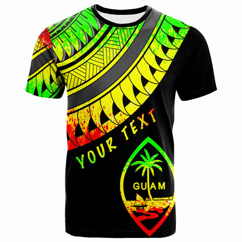 Guam Custom Personalised T-Shirt - Ginger Lei Pattern Reggae  - BN20