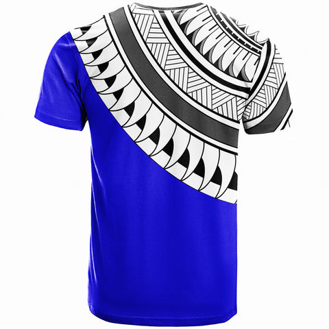 Guam Custom Personalised T-Shirt - Ginger Lei Pattern Blue  - BN20