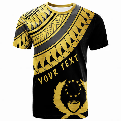 Pohnpei Custom Personalised T-Shirt - Ginger Lei Gold Pattern  - BN20