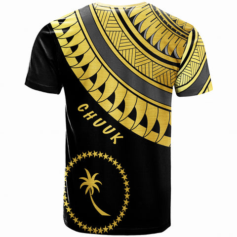 Chuuk Custom Personalised T-Shirt -Ginger Lei Gold Pattern- BN20