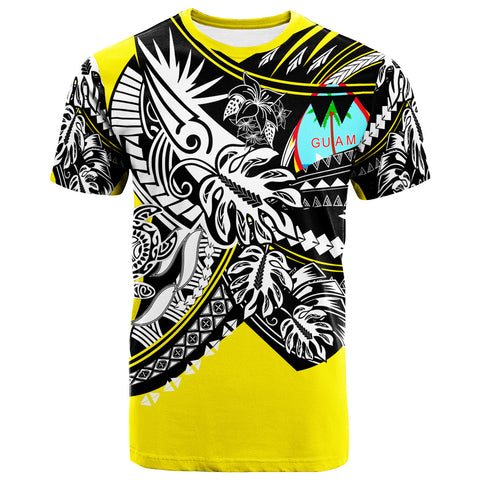 Image of Guam T-Shirt - Tribal Jungle Yellow Pattern - BN20