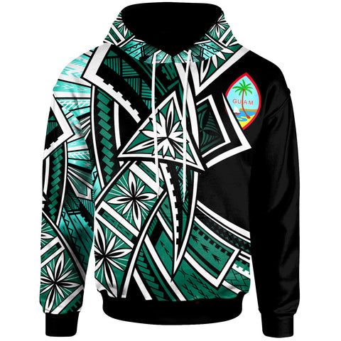 Guam Hoodie - Tribal Flower Special Pattern Green Color - BN20