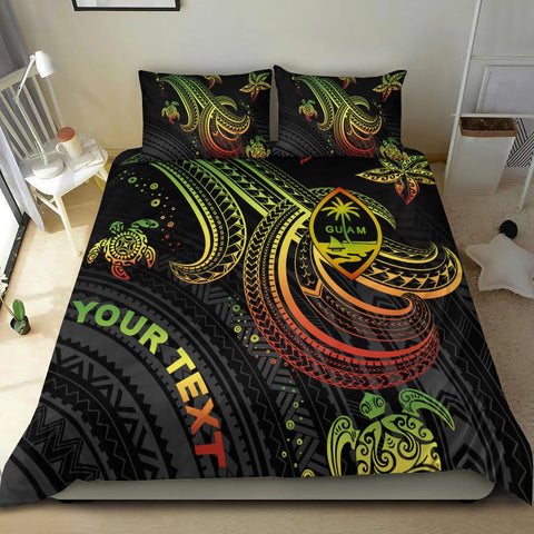 Image of Guam Custom Personalised Bedding Set - Reggae Turtle