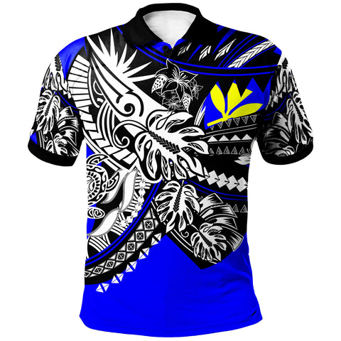 Hawaii Polo Shirt - Tribal Jungle Blue Pattern - BN20