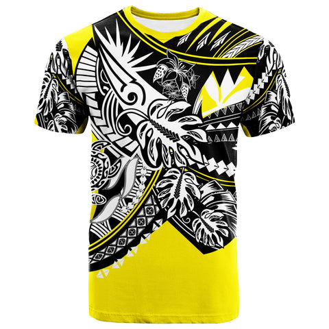 Hawaii T-Shirt - Tribal Jungle Yellow Pattern - BN20