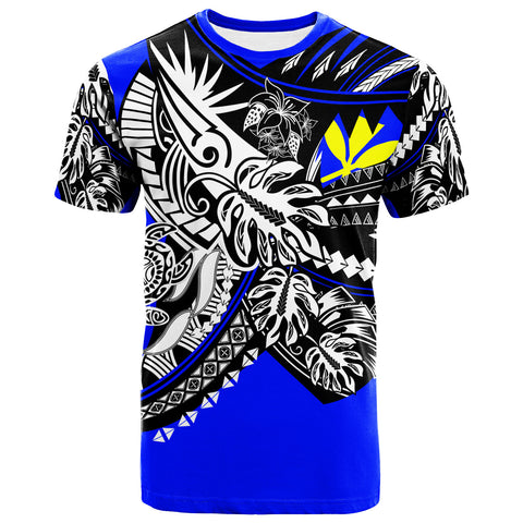 Image of Hawaii T-Shirt - Tribal Jungle Blue Pattern - BN20