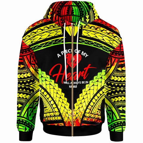 Hawaii Zip-Up Hoodie - A Piece Of My Heart - BN20