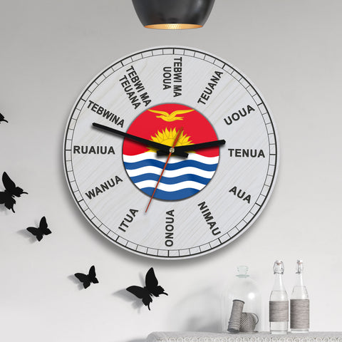 Kiribati Wooden Wall Clock - BN09