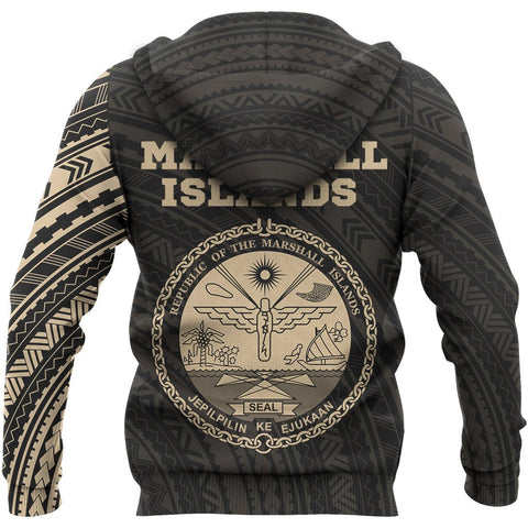 Marshall Islands Micronesia Hoodie - Marshall Islands Micronesia Seal Polynesian Tattoo Style A7 1ST