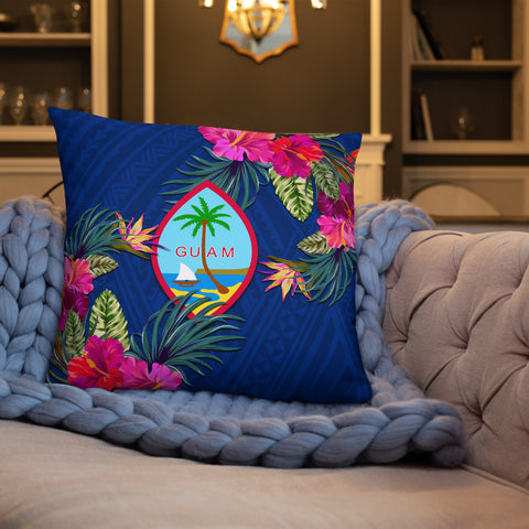 Image of Guam Polynesian Pillow - Hibiscus Surround - BN39