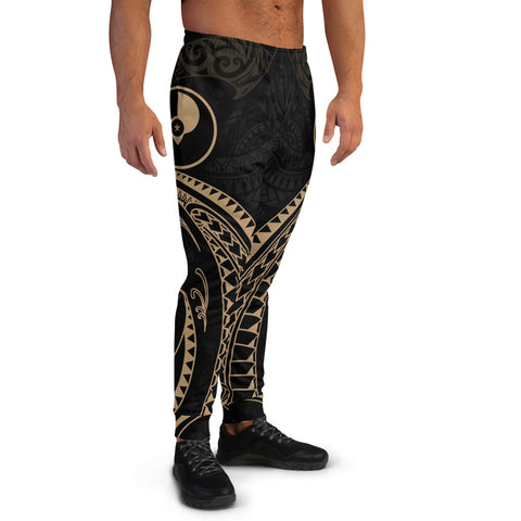 Yap Micronesia Men's Joggers - Gold Tribal Wave - BN12