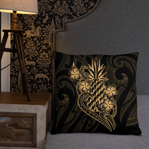 Polynesian Basic Pillow - Gold Pineapple - BN12