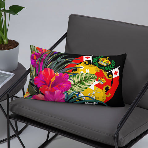 Tonga Polynesian Basic Pillow - Tropical Bouquet - BN12