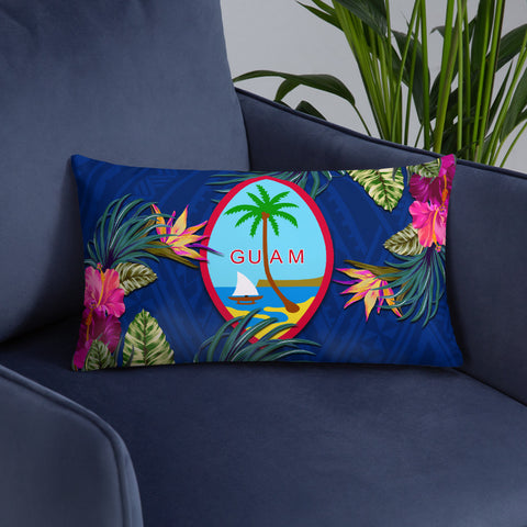 Guam Polynesian Pillow - Hibiscus Surround - BN39