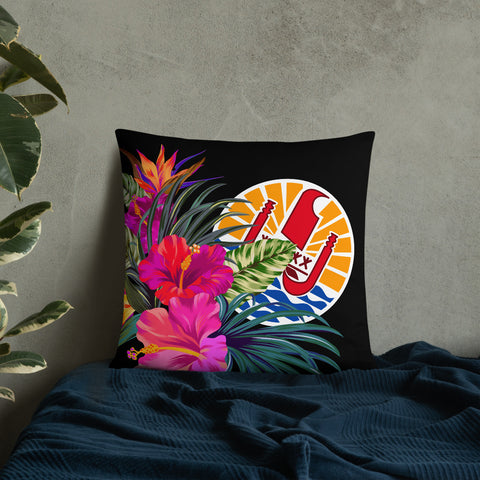 Image of Tahiti Polynesian Basic Pillow - Tropical Bouquet - BN12