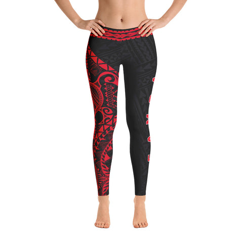 Samoa Polynesian 1st Leggings (Red) A6