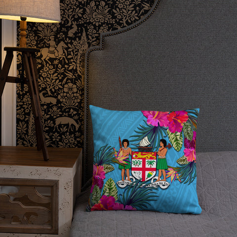 Image of Fiji Polynesian Pillow - Hibiscus Surround - BN39