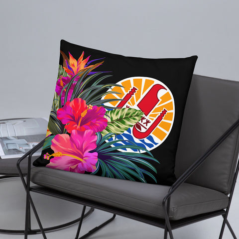 Image of Tahiti Polynesian Basic Pillow - Tropical Bouquet