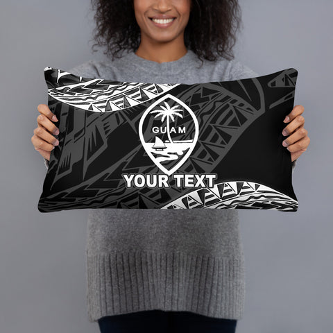 Image of Guam Custom Personalised Polynesian Pillow - Black Seal - BN39