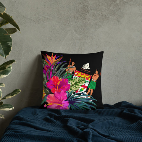 Image of Fiji Melanesia Basic Pillow - Tropical Bouquet - BN12